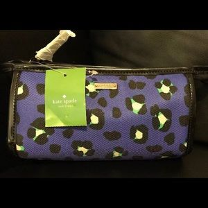 Kate Spade Zip Top Cosmetic Case Bag NWT